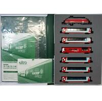 Kato 10-1145 + 10-1146 Swiss Alps Glacier Express 7 Cars Complete Set - N