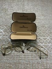 2 Pair of vintage eyeglasses. BerDel, Electrogold, Italy. With cases!