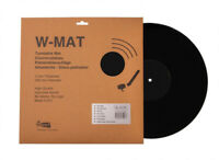 Acrylic Hi-Fi Turntable Mat, W-MAT by Winyl, 3mm thickness, Black