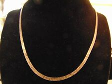 "925 STERLING SILVER HERRINGBONE 17"" CHAIN 8 1/2"" CLASPED MADE IN ITALY"