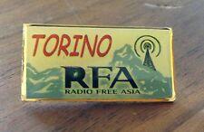 Radio Free Asia Torino 2006 Olympic Media Pin