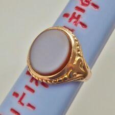 Fine Antique Victorian 15ct Gold Sardonyx set Signet Ring c1873; UK Size 'J'