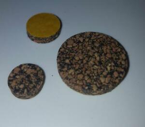 4 x Adhesive Backed Nitrile Bonded Cork Disc Discs 3mm thick - pick own size