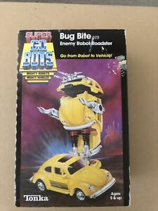 Vintage 1984 Tonka Super Gobots Bug Bite enemy robot roadster  With Box