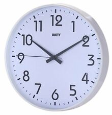 Unity Fradley White Case Silent Sweep Wall Clock 30cm