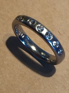 Diamond Ring In Solid Palladium. Rare Item.