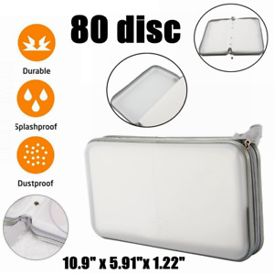 US 80Disc CD Holder DVD Small Hard Case Storage Wallet VCD Organizer For Car