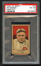 1919-21 W514 Pat Moran #12 PSA 4 VG-EX Hand Cut Cincinnati Reds