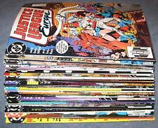 Lot of 35 diff JUSTICE LEAGUE Europe / International Ave VF/NM | 1 2 3 4 5 6 7 8
