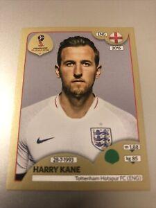 PANINI WORLD CUP 2018 HARRY KANE GOLD SWISS STICKER NO 589