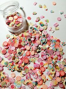 Candy Sweets Fimo Clay Slices Slime Crafts Embellishments Resin Supplies Xmas