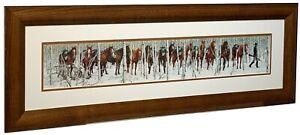 """Bev Doolittle """"Two Indian Horses"""" Matted & Framed Art Print"""