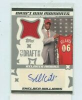 SHELDON WILLIAMS 2006-07 Topps Rookie Jersey Auto Autograph  Rookie #D /199