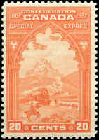Canada Mint NH 1927 F-VF Scott #E3 20c Special Delivery Stamp