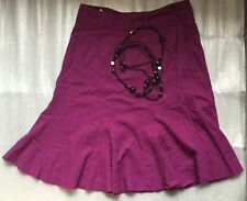 BHS PETITE PURPLE SKIRT - EXCELLENT CONDITION - SIZE 14