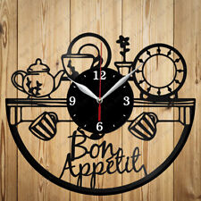 Vinyl Clock Kitchen Original Vinyl Clock Art Home Decor Handmade Gift