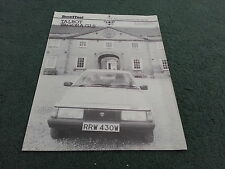 May 1981 TALBOT TAGORA 2.2 GLS MOTOR Road Test Reprint - UK BROCHURE