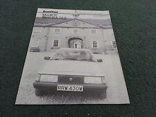 May 1981 TALBOT TAGORA 2.2 GLS MOTOR Road Test Reprint - UK BROCHURE