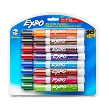 NEW Expo 2 Low Odor Dry Erase Markers Chisel Tip 16 Pack Assorted Colors