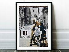 New listing Life Is Beautiful (La vita è bella) Movie Poster - Classic 90s Vintage Wall Film