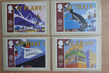 1988 PHQ postcards - Transport, Communications & Mail Services - set of 4