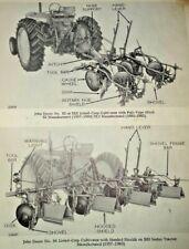John Deere 80 thru RL630 Listed-Crop Cultivator Parts Catalog Manual Original!
