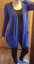 Blaue Damen Strickjacke mit langen Arm von H&M in Gr. M