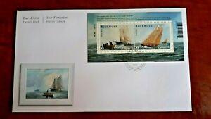 Canada 2021 2.84$ FDC Bluenose Souvenir Sheet Mint VFNH