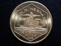 LINCOLN NEBRASKA CENTENNIAL GOOD FOR 50 CENTS IN TRADE TOKEN!   BB403XCU