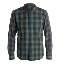 DC Shoes Midweight Flannel Shirt (L) Green
