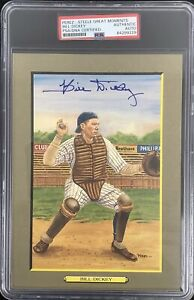 Bill Dickey Signed Perez Steele Great Moments Postcard Yankees Autograph PSA/DNA