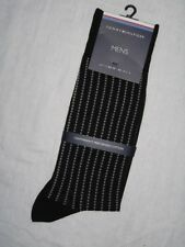Tommy Hilfiger Mens Lightweight Mercerized Cotton Socks Black Size 9 - 11