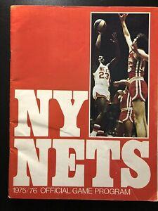 1975-76 New York Nets Official Game Program vs St. Louis Spirits  Dr.J ABA  BX3