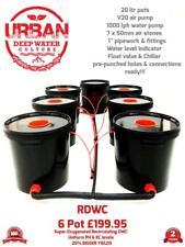 20L 6 Pot RDWC Deep Water Culture Hydroponic Bubbler System Alien IWS RUSH DWC