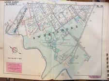 1942 DELAWARE CO PA SWARTHMORE COLLEGE FRATERNITIES SENIOR & JUNIOR HS ATLAS MAP