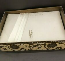 "Beverly Clark Wedding Guest Book ""Audrey"" simple satin ribbon Ivory new in box"