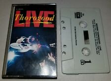 "GEORGE THOROGOOD ""LIVE"" CASSETTE TAPE 1986 ROCK BLUES ROCKABILLY"