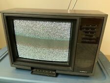 Vintage Tv Sears Squareview Turns On