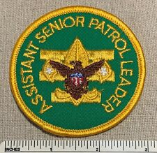 VTG ASSISTANT SENIOR PATROL LEADER Boy Scout Position Badge PATCH Uniform Camp