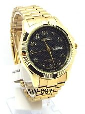 New Citizen Man  Gold-tone,Black-dial, Day-date-window Dress Watch
