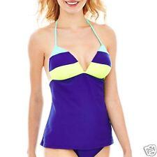 Arizona Navy Halterkini Swim Top Size S New Msrp $32.00