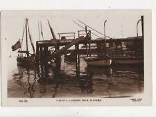Natives Landing Deck Manora India / Pakistan Vintage RP Postcard 113b