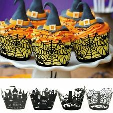 12Pcs Halloween Cupcake Wrapper Liners Cake Muffin Cases Paper Baking Cup