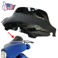 "Black 8"" Wave Windshield Windscreen for Harley FLHT FLHTC FLHX Touring 96-13 US"