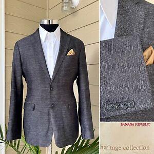 Banana Republic Men's Blazer Heritage Linen Cotton 2 Button Sport Jacket Sz 40R