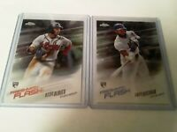 ROOKIES Ozzie Albies and Amed Rosario 2018 Topps Freshman Flash
