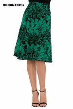 Gonne e minigonne da donna in poliestere verde