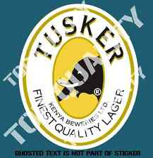 TUSKER BEER FRIDGE DECAL STICKER GREAT FOR BAR FRIDGE COOL MANCAVE SHED STICKERS