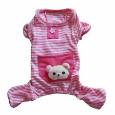 Stripes Pajamas Coat Cat Puppy Clothes Clothing Apparel for Small Pet Dog