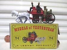 Lesney Matchbox Models of Yesteryear 1905 Y4 SHANDMASON Fire Engine KENT Decals